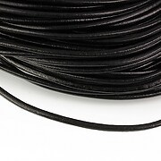 Snur piele naturala grosime 2,5mm (1m) - negru