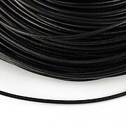 Snur piele naturala grosime 2mm (1m) - negru