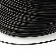 Snur piele naturala grosime 1,5mm (1m) - negru