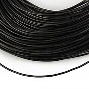 Snur piele naturala grosime 1,2mm (1m) - negru