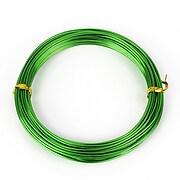Sarma de modelaj aluminiu, grosime 1,5mm, pachet 10m - verde