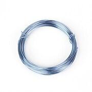 Sarma de modelaj aluminiu, grosime 1mm, pachet 10m - albastru deschis