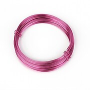 Sarma de modelaj aluminiu, grosime 1mm, pachet 10m - roz inchis