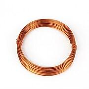 Sarma de modelaj aluminiu, grosime 1mm, pachet 10m - rose gold