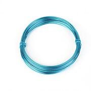 Sarma de modelaj aluminiu, grosime 0,8mm, pachet 10m - albastru marin