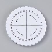 Disc burete pentru impletit bratari, panou rotund 10x1cm