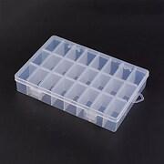 Cutie plastic pentru margele cu 24 compartimente 19x13x3,6cm