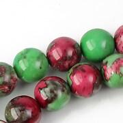 Ocean jade sfere 12mm - verde roz
