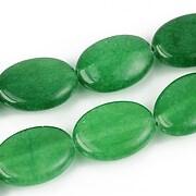 Jad oval 18x13mm - verde