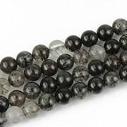 Cuart negru turmalinat sfere 5mm