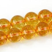 Cuart crystal sfere 12mm - galben auriu