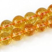 Cuart crystal sfere 10mm - galben auriu