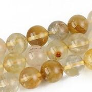Cuart feruginos sfere 10mm - galben auriu