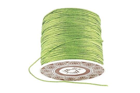 Snur Shamballa grosime 1mm, rola de 28m - verde fistic