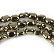 Hematit electroplacat nuggets 7x5mm - auriu deschis