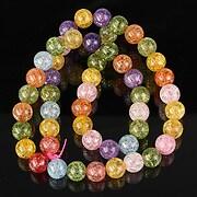 Sirag cristal de gheata colorat mix sfere 8mm