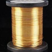 Sarma de modelaj cupru GILT NON-Tarnish grosime 1,25mm (1m)