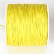 Snur nylon pentru bratari grosime 1mm, rola de 100m - galben lamaie