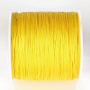 Snur nylon pentru bratari grosime 1mm, rola de 100m - galben