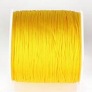 Snur nylon pentru bratari grosime 1mm, rola de 100m - galben porumb