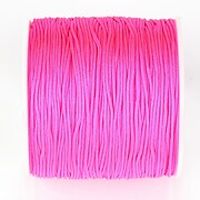 Snur nylon pentru bratari grosime 1mm, rola de 100m - roz bombon neon