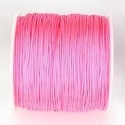 Snur nylon pentru bratari grosime 1mm, rola de 100m - roz neon