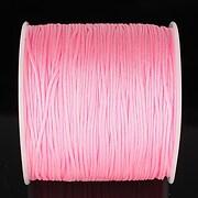 Snur nylon pentru bratari grosime 1mm, rola de 100m - roz deschis
