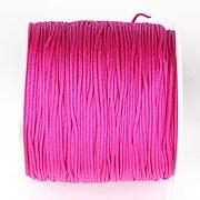 Snur nylon pentru bratari grosime 1mm, rola de 100m - roz fucsia