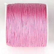 Snur nylon pentru bratari grosime 1mm, rola de 100m - roz
