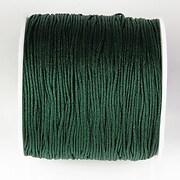 Snur nylon pentru bratari grosime 1mm, rola de 100m - verde inchis