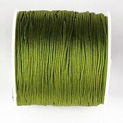 Snur nylon pentru bratari grosime 1mm, rola de 100m - verde olive