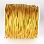 Snur nylon pentru bratari grosime 1mm, rola de 100m - auriu