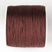 Snur nylon pentru bratari grosime 1mm, rola de 100m - maro