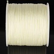Snur nylon pentru bratari grosime 1mm, rola de 100m - crem ivory