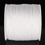Snur nylon pentru bratari grosime 1mm, rola de 100m - alb