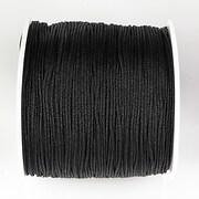 Snur nylon pentru bratari grosime 1mm, rola de 100m - negru