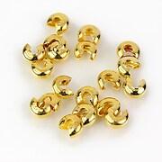 Crimp cover auriu 5mm (10buc.)