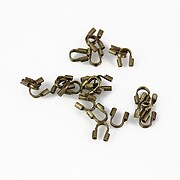 Protectie sarma (wire guardian) bronz, interior 0,5mm (10buc.)