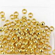 Crimp auriu 4x2,5mm (3g - aprox. 40 buc.)