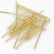 Ace cu cap otel inoxidabil 304 auriu, 2,5cm (grosime 0,7mm) (20 buc.)