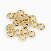 Zale otel inoxidabil 304 auriu 6x1mm (20 buc.)