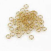 Zale otel inoxidabil 304 auriu 4x0,6mm (20 buc.)