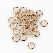 Zale otel inoxidabil 304 rose gold, 6mm (grosime 1mm) (20 buc.)