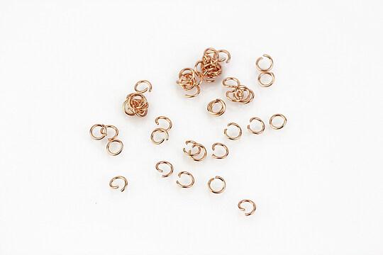 Zale otel inoxidabil 304 rose gold, 3mm (grosime 0,4mm) (20 buc.)