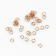 Zale otel inoxidabil 304 rose gold, 3mm (grosime 0,4mm) (20 buc.)