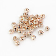 Distantier rose gold 4x2mm (10 buc.)