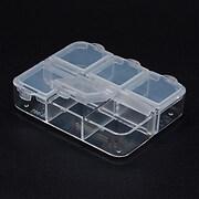 Cutie din plastic pentru margele cu 6 compartimente individale 6,5x5,5cm