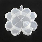 Cutie plastic pentru margele cu 9 compartimente trifoi 17x15x2,5cm