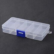 Cutie plastic pentru margele cu 10 compartimente 13x7x2cm