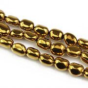 Hematit electroplacat nuggets 7x5mm - auriu